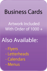 Business cards printing laval