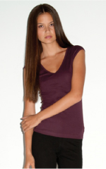 deep v-neck women t-shirt