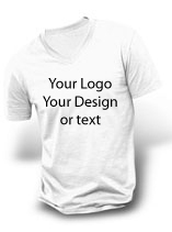Custom V-neck t-shirt printing